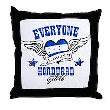 Everyone loves an Honduran girl Throw Pillow