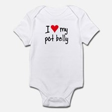 I LOVE MY Pot Belly Infant Bodysuit