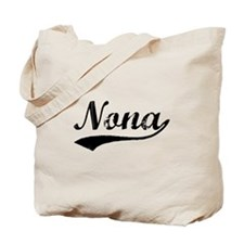 Vintage Nona (Black) Tote Bag