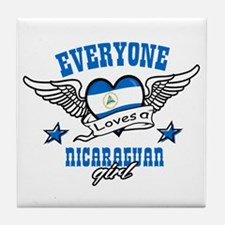 Everyone loves a Nicaraguan girl Tile Coaster
