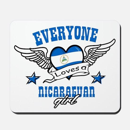 Everyone loves a Nicaraguan girl Mousepad