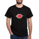Lips Black T-Shirt