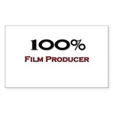 100 Percent Film Producer Rectangle Decal