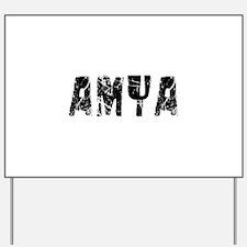 Amya Faded (Black) Yard Sign
