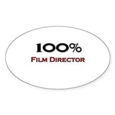 100 Percent Film Director Oval Decal