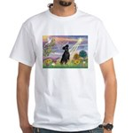 Cloud Angel Min. Pinscher White T-Shirt