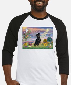 Cloud Angel Min. Pinscher Baseball Jersey