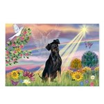 Cloud Angel Min. Pinscher Postcards (Package of 8