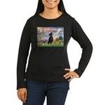 Cloud Angel Min. Pinscher Women's Long Sleeve Dar
