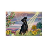 Cloud Angel Min. Pinscher Rectangle Magnet