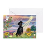 Cloud Angel Min. Pinscher Greeting Cards (Pk of 2