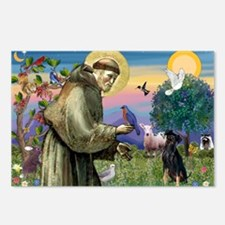 St. Francis & Min Pin Postcards (Package of 8)