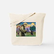 St. Francis & Min Pin Tote Bag