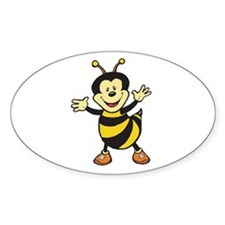 Busy Bee Oval Decal