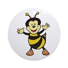 Busy Bee Ornament (Round)