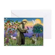 St Francis / Nor Elk Greeting Cards (Pk of 20)