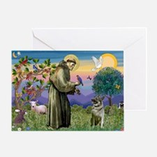 St Francis / Nor Elk Greeting Card
