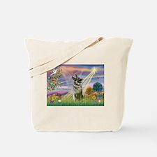 Cloud Angel Elkhound Tote Bag