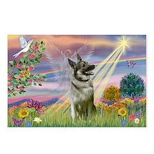 Cloud Angel Elkhound Postcards (Package of 8)