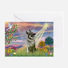 Cloud Angel Elkhound Greeting Card