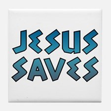 Jesus Saves Tile Coaster