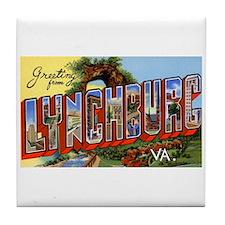 Lynchburg Virginia Greetings Tile Coaster
