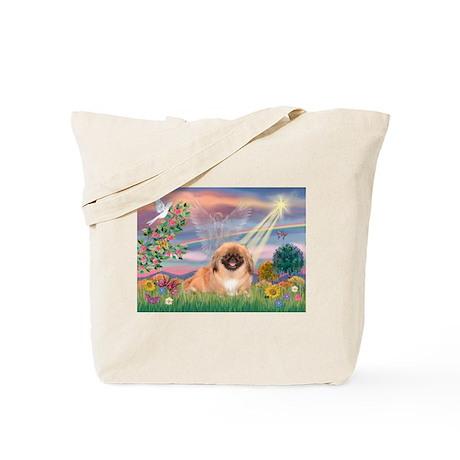 Cloud Angel Pekingese (#1) Tote Bag