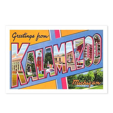 Kalamazoo Michigan Greetings Postcards (Package of