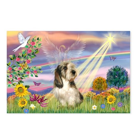 Cloud Angel & PBGV Postcards (Package of 8)