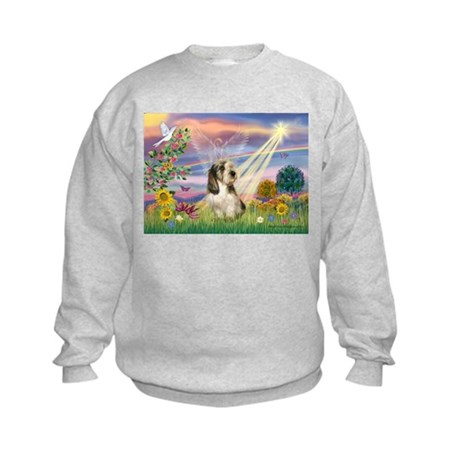 Cloud Angel & PBGV Kids Sweatshirt