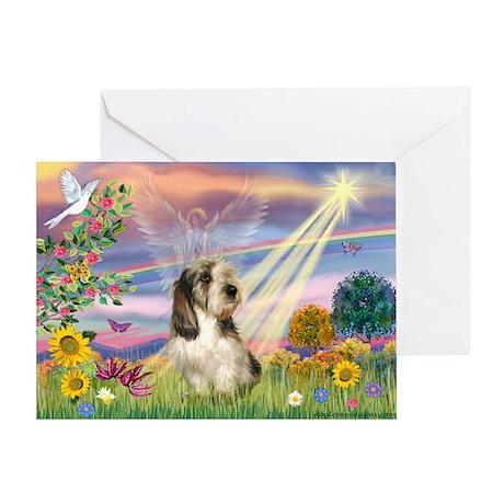 Cloud Angel & PBGV Greeting Card