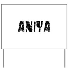 Aniya Faded (Black) Yard Sign