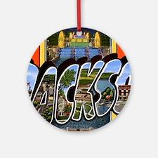 Jackson Michigan Greetings Ornament (Round)