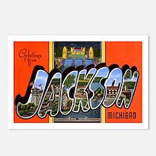 Jackson Michigan Greetings Postcards (Package of 8