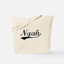 Vintage Nyah (Black) Tote Bag