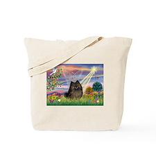 Cloud Angel Brindle Pom Tote Bag