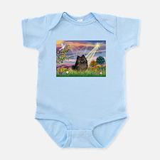Cloud Angel Brindle Pom Infant Bodysuit