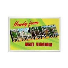 Morgantown West Virginia Greetings Rectangle Magne