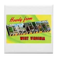 Morgantown West Virginia Greetings Tile Coaster