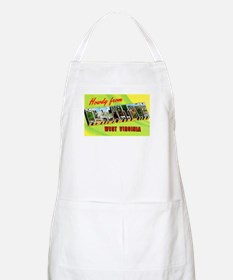 Morgantown West Virginia Greetings BBQ Apron