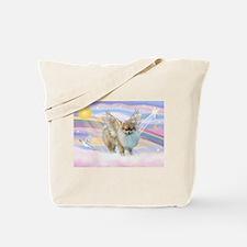 Clouds & Pomeranian Angel Tote Bag