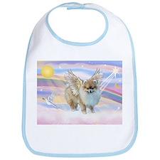 Clouds & Pomeranian Angel Bib