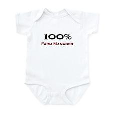 100 Percent Farm Manager Infant Bodysuit