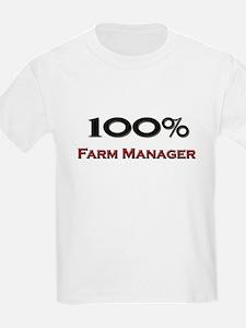 100 Percent Farm Manager T-Shirt