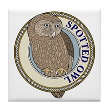 Spotted Owl Tile Coaster