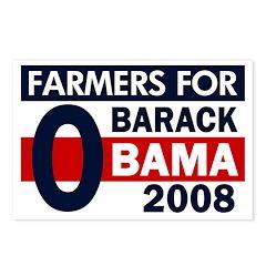 Farmers for Obama 08 (8 Postcards)