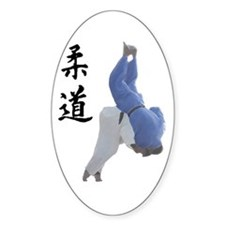 Ippon Throw Oval Decal