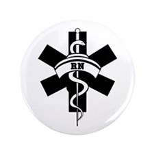 "RN Nurses Medical 3.5"" Button"