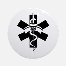 RN Nurses Medical Ornament (Round)