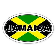 Jamaica Oval Decal